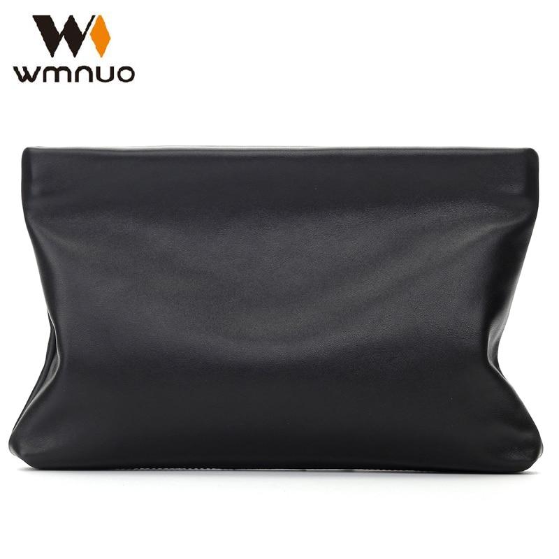 Wmnuo 남자 핸드 가방 정품 가죽 2018 새로운 패션 남자 봉투 가방 좋은 터치 양피 간단한 남자 지갑 클러치 백 핸드백