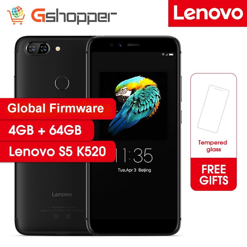 Global Firmware Lenovo S5 K520 Smartphone 4GB RAM 64GB ROM Snapdragon 625 Octa Core Mobile Phone