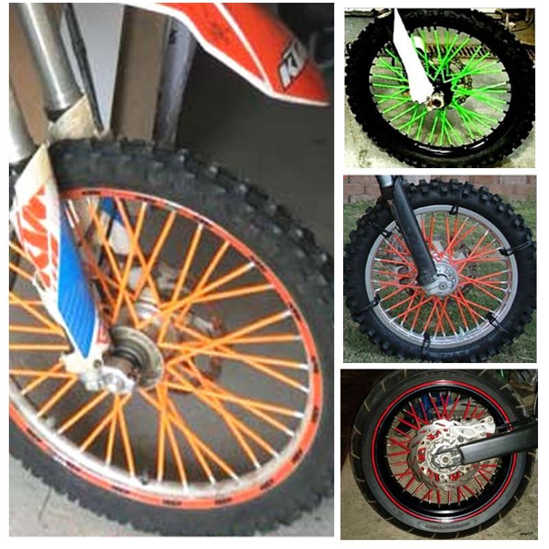 Motocross Spoke Skins Wheel Rim Spoke Covers Bicycle For