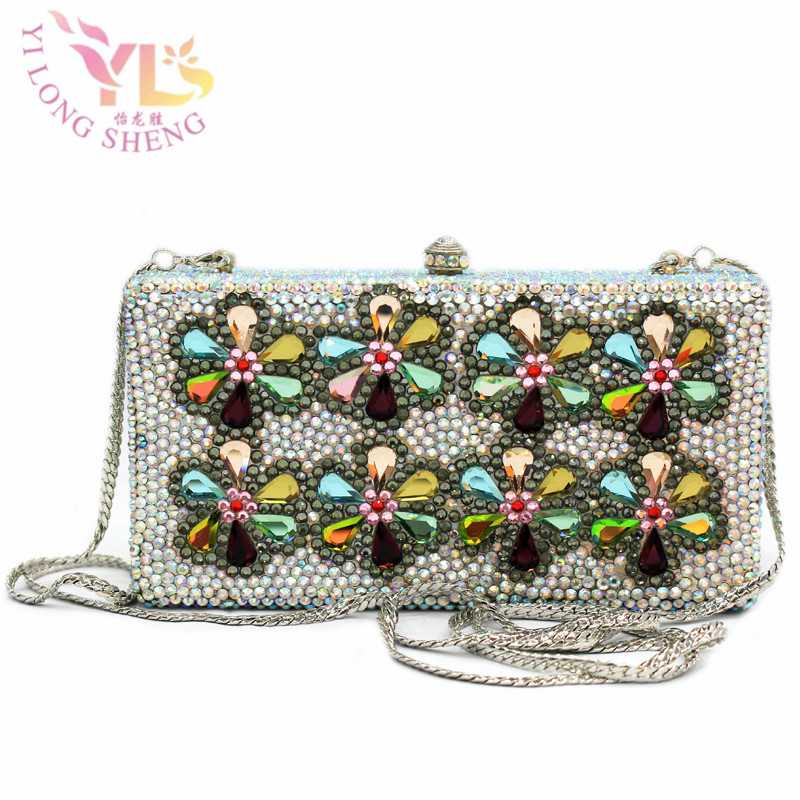 Ladies Flower Box Clutch Bag Women Evening Bag Wedding Party Prom Shoulder Handbag Hardcase Metal Clutches YLS-F44 раковина встраиваемая cersanit libra 80см p um lb80 1