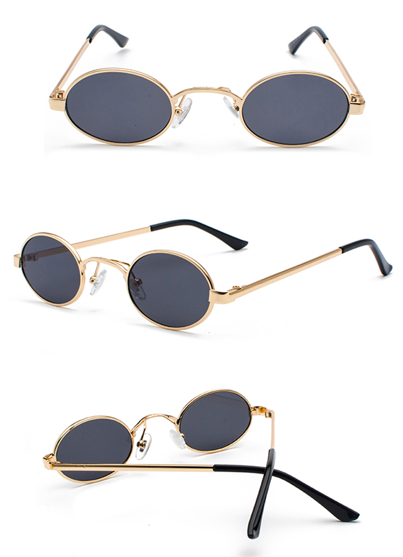 Tiny Oval Sunglasses Men detail (6)