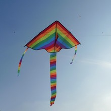 Rainbow Long Tail Nylon Kite