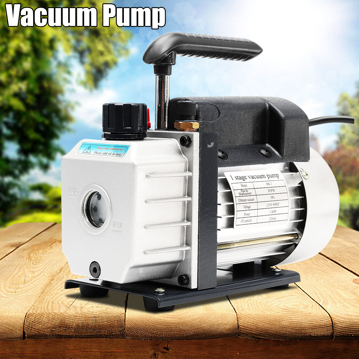 Value RS-1 Mini Air Vacuum Pump 220V Air Compressor LCD Separator Laminating Machine HVAC Refrigeration Repair Tools