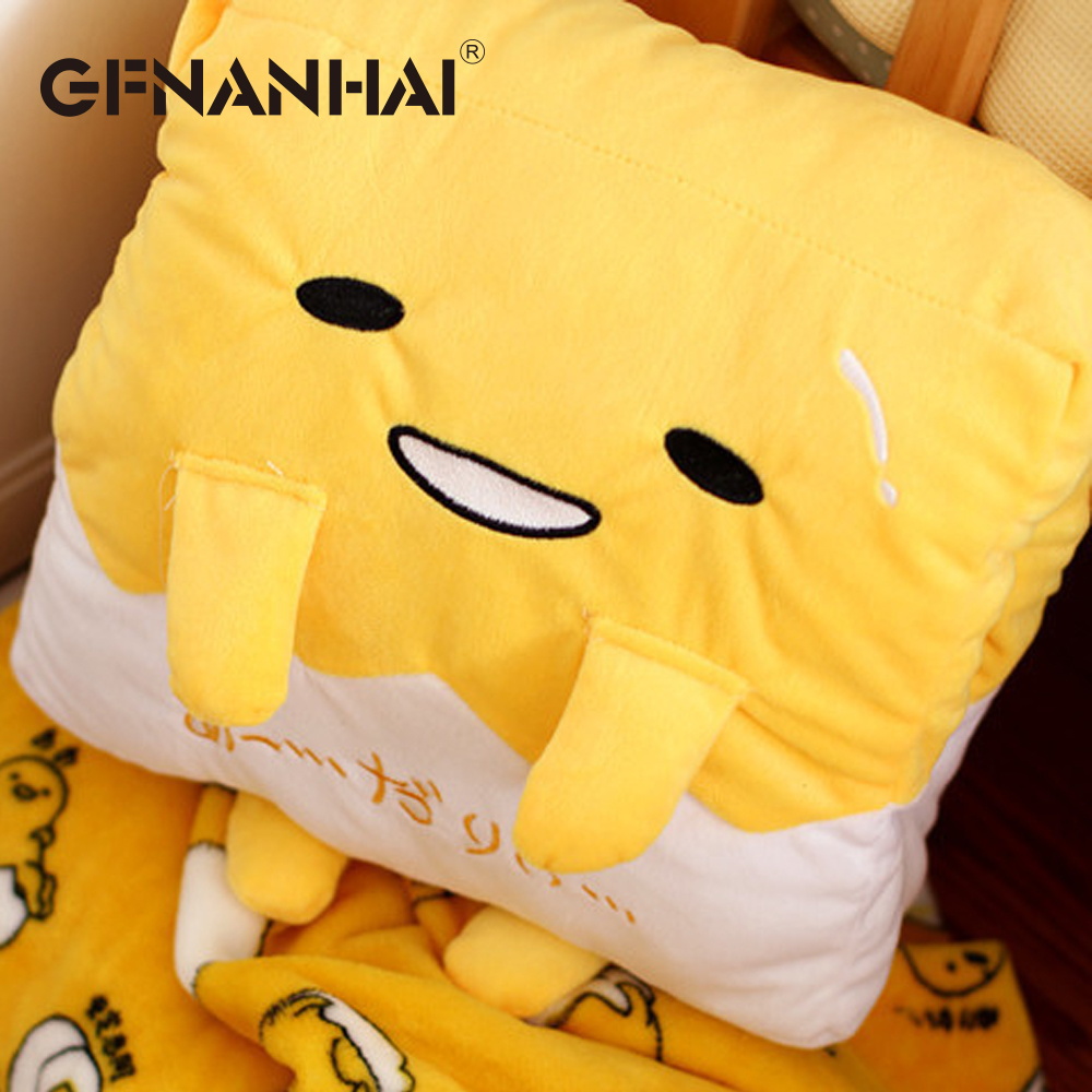 cute plush toy gudetama egg kawaii stuffed cushion hand warmer blanket gift 1pc