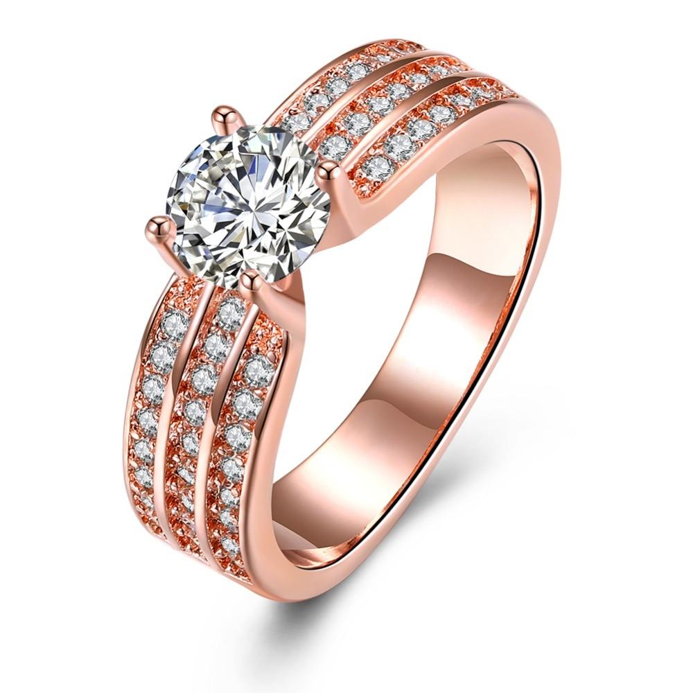 SSR 925 Sterling Silver for women Romantic Ring Zirconia Stone Wedding JewelrySSR 925 Sterling Silver for women Romantic Ring Zirconia Stone Wedding Jewelry