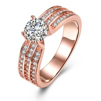 SSR 925 Sterling Silver for women Romantic Ring Zirconia Stone Wedding Jewelry
