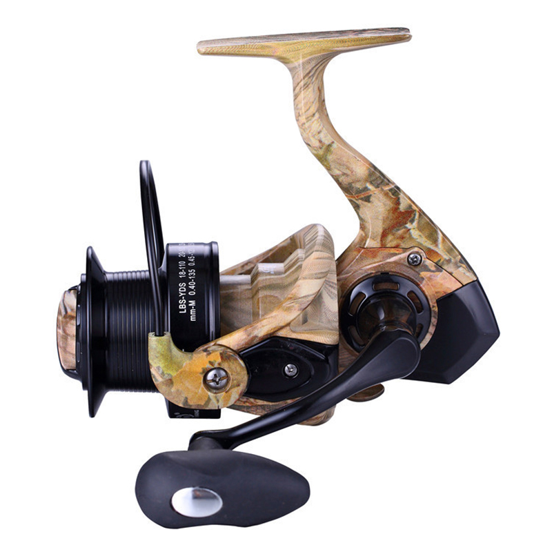 Camouflage Fishing Reels 5000-10000 13BB 4.1:1 Feeder Metal Body Carp Feeder Spinning Reels Carretilhas Camouflage Fishing Reels yamaha pneumatic cl 16mm feeder kw1 m3200 10x feeder for smt chip mounter pick and place machine spare parts
