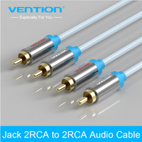 Vention 2RCA To 2 RCA Male To Male Audio Cable Gold Plated RCA Audio Cable For