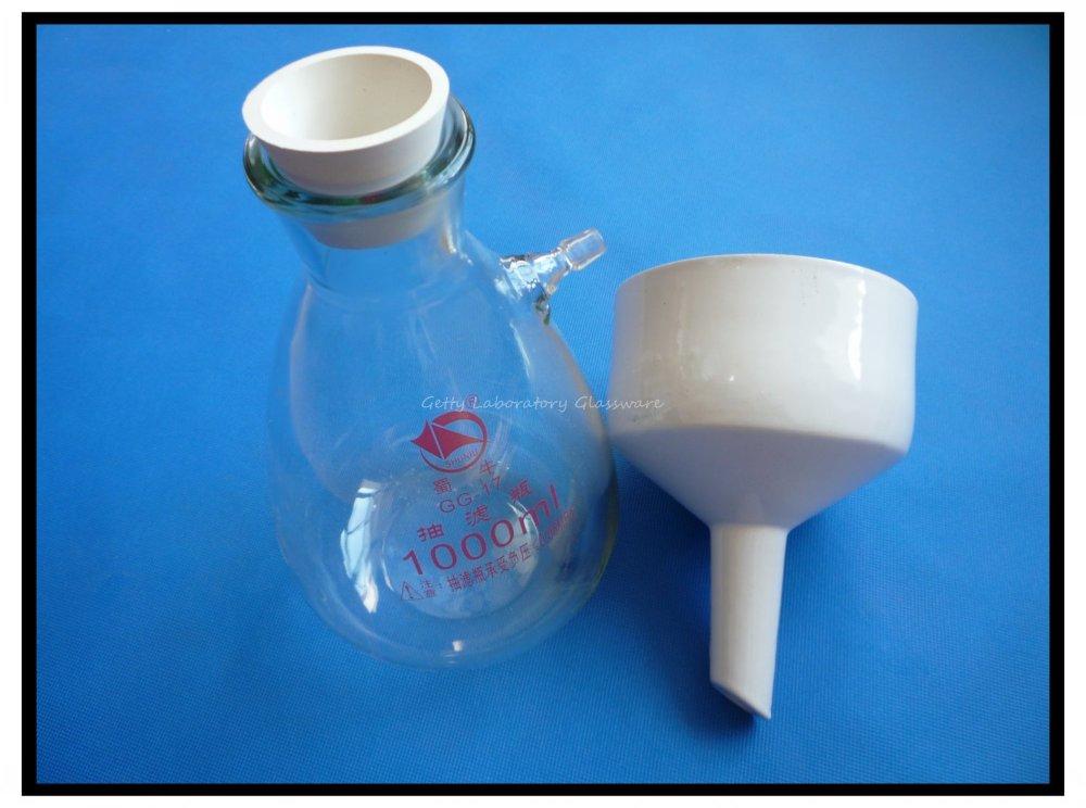 1000 мл Бюхнера Воронки лабораторные аппарат, filteration Воронки лабораторные комплект используется для вакуумного всасывания filting