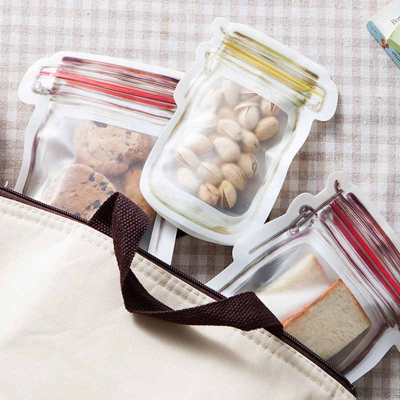 DINIWELL Reusable Seal Food Fresh Bag Fruit Meat Milk Storage Containers Refrigerator Ziplock Kitchen Organizer Pouch