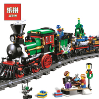Lepin 36001 770Pcs Creative Series Christmas Winter Holiday Train Model Building Blocks Bricks Children Gift LegoINGlys