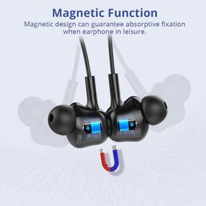 Image 4 - Langsdom L17 bezprzewodowe słuchawki Bluetooth 5.0 słuchawka do telefonu iPhone zestaw słuchawkowy magnes słuchawki douszne z mikrofonem Stereo Bluetooth słuchawki