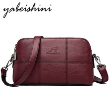 YABEISHINI Women Crossbody Bags Ladies Shoulder Bag High Quality Leather Female Bag Messenger Bags For Women Sac a Main  Bolsas