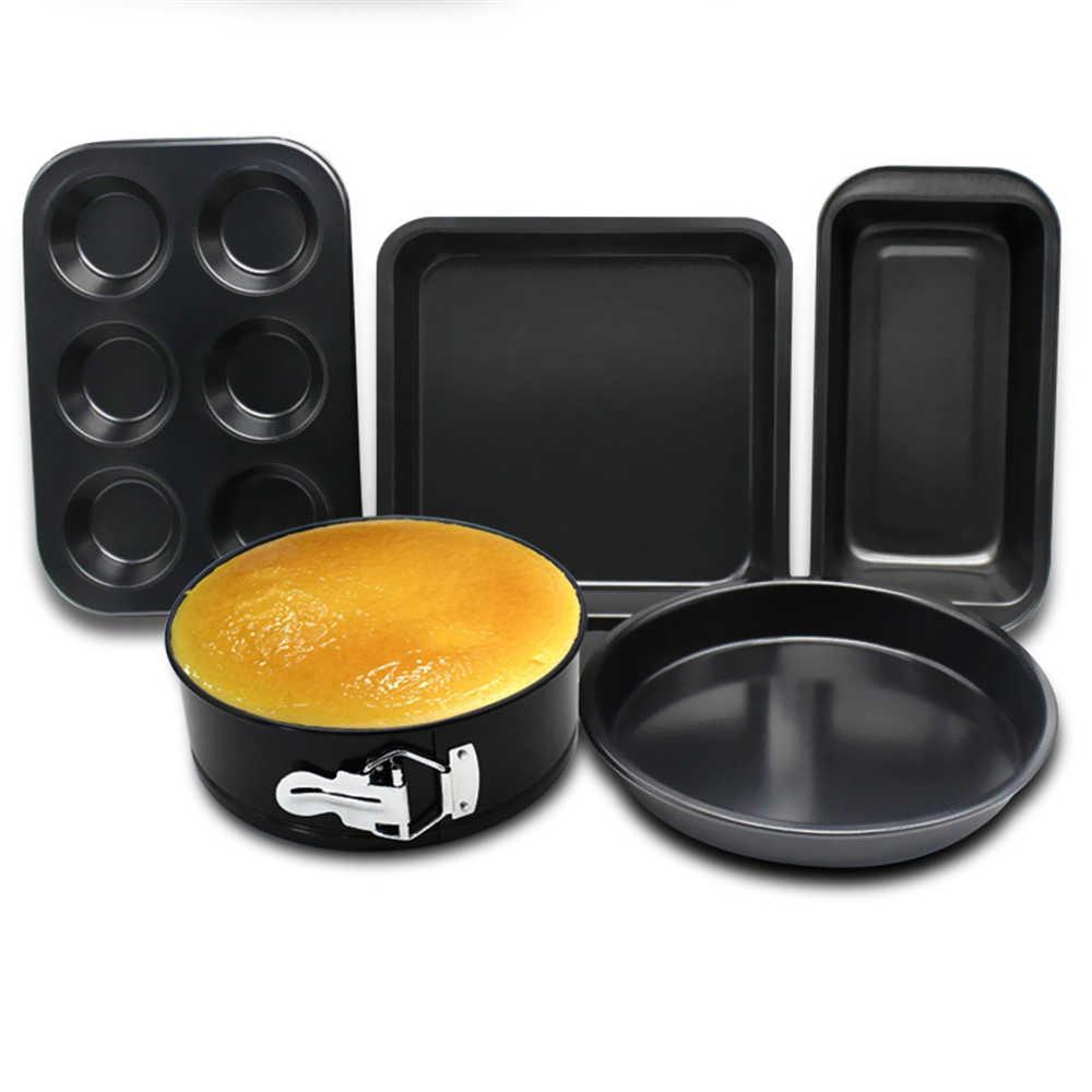 5 шт./компл. металла жаропрочная Антипригарная посуда форма для самостоятельного изготовления торта из металла Сталь кекса формы для выпечки Оптовые продажы, торты форму для выпечки Кухня продукты