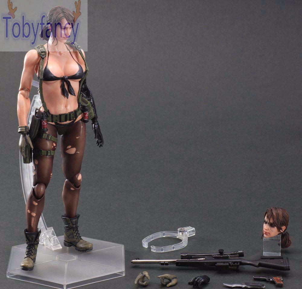 Metal Gear Solid Action Figures Play Arts Kai The Phantom Pain Quiet Venom Snake PVC Toys 260mm Anime Playarts Kai T 25cm play arts kai metal gear solid 5 the phantom pain quiet venom snake pa pvc action figure doll toys kids gift brinquedos
