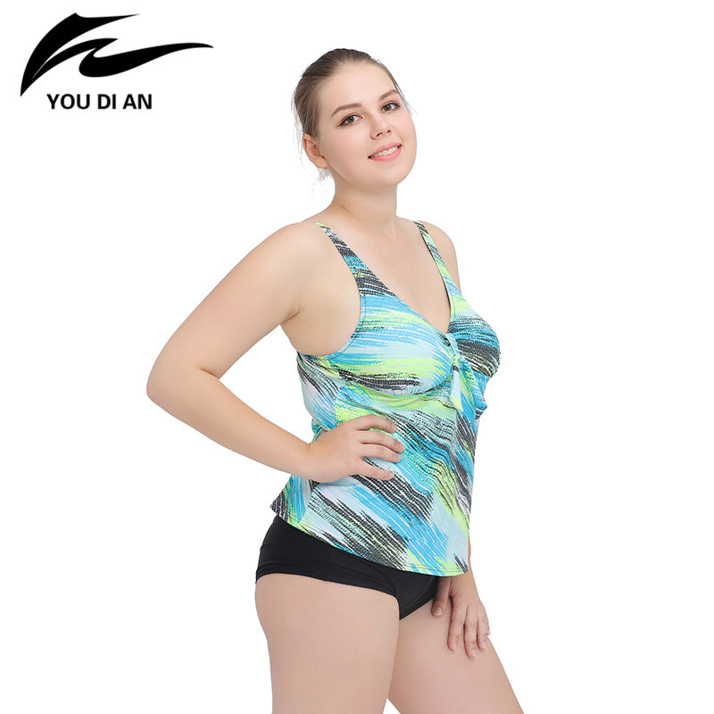 9564ae3215 YOUDIAN NEW Swimsuit For Women Plus Size 4XL Printd Sexy Set Push Up Split Swimwear  Bathing suits Free Shipping-in Bikinis Set from Sports   Entertainment ...