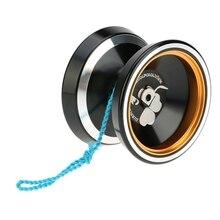 MAGICYOYO популярные игрушки для детей Профессиональный M001 Алюминий сплава Йо-Йо токарный станок T подшипник с спиннинг строку