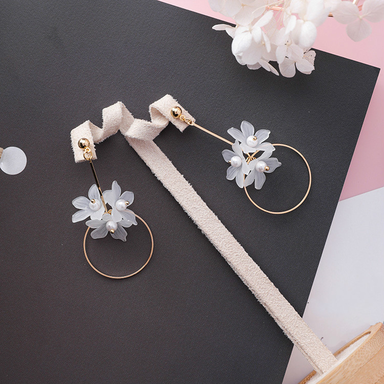 Ethnic Plant Women Dangle Earrings Small Fresh Acrylic Flower Pole Long Earrings For Women Drops Earrings 6