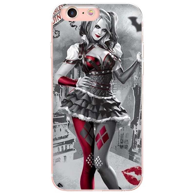Us 1 21 39 Off Maiyaca Harley Quinn Wallpaper Colorful Cute Phone Accessories Case For Iphone 8 7 6 6s Plus 5 5s Se 5c Coque Shell In Half Wrapped