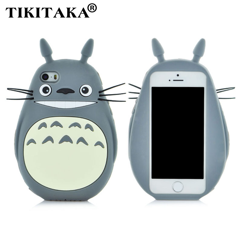 style 3D Cartoon Totoro cat soft silicon cute cover back phone case Iphone 5 5S SE 6 6S / Plus Lovely TPU Shell Cases - Corcossi Science & Technology CO., LTD store