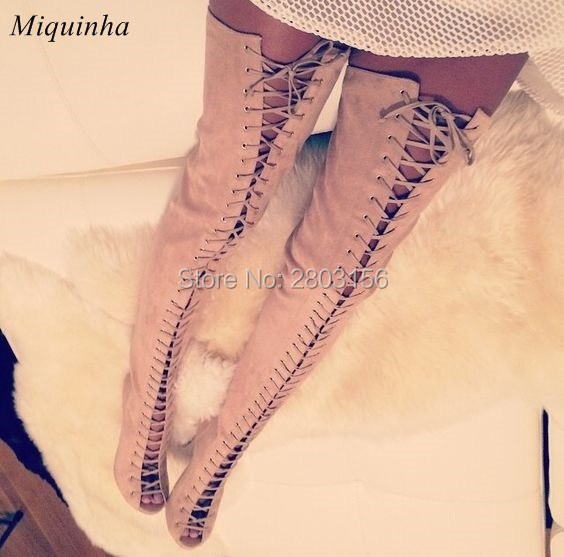 Popular Thigh High Open Toe Boots-Buy Cheap Thigh High Open Toe ...