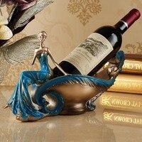 Continental wine rack fruit bowl key disk Craft home bar decoration beer stand resin wine holders bottle holder whisky ornaments