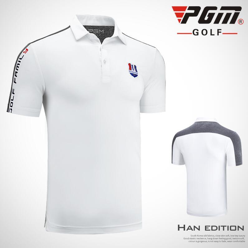 2019 chemises de Golf hommes à manches courtes Sport Golf T-Shirt été respirant à séchage rapide col rabattu chemises Golf sportswear hauts