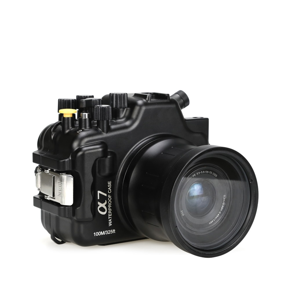 New upgraded  Aluminum Housing  for Sony A7 100M/325ft Underwater Waterproof Camera Housing Case voking aluminum 100m 325ft waterproof case underwater housing for sony a7s ii