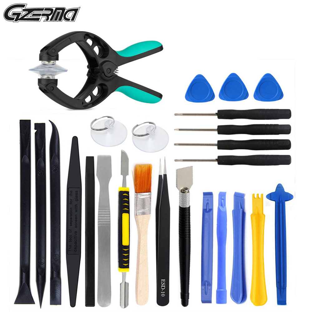 25 In 1 Anti-static Tweezers Opening Repair Tool Kits Pry Disassemble Tools Set For Phone PC Laptop Repair Hand Tool Kit