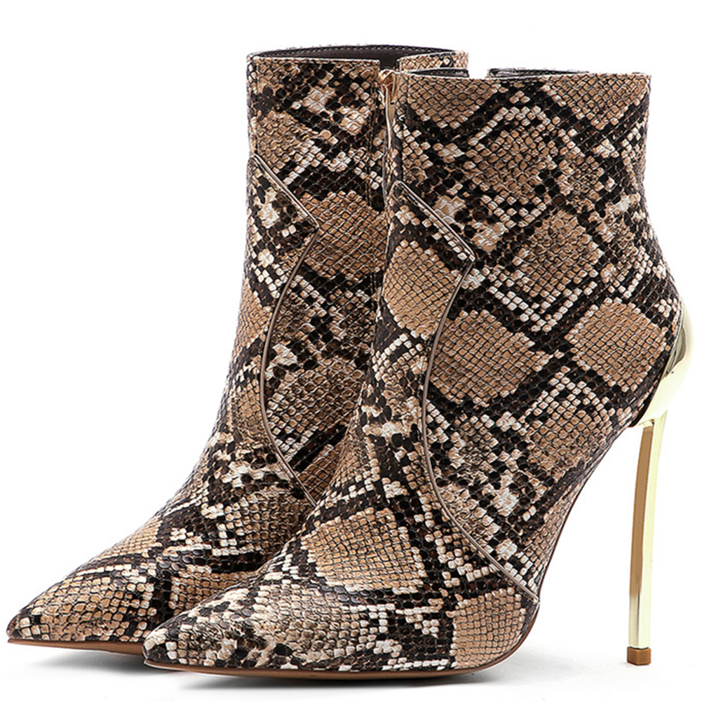 45 Schuhe Stiefeletten White Größe Dünne Heißer Up Zip Sexy Große Black 34 Ins Dropship Weibliche Stiefel Brown Heels black Büro High Karinluna Frau fAqXx
