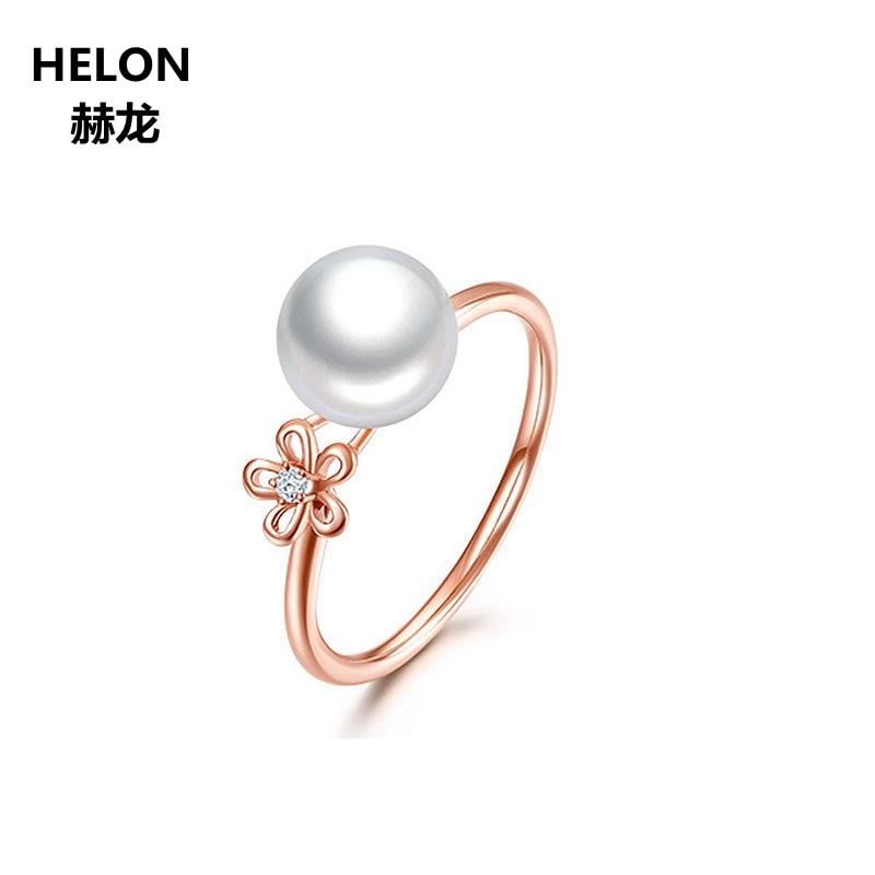 Petal diamond pearl ring