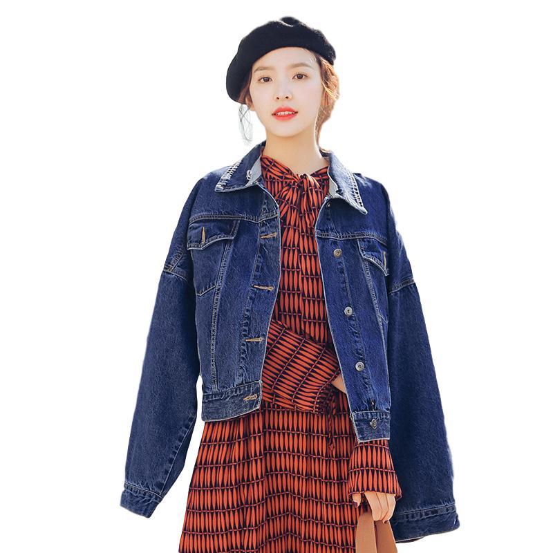 Idopy Womens Denim Jacket With Detachable Hood Basic Classic Boyfriend Style Baggy -3056