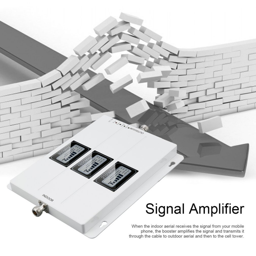 Amplificateur de Signal de répéteur extérieur externe GSM 900 MHZ 1800 MHZ 2100 MHZ amplificateur de Signal de téléphone Portable de taille Portable - 5