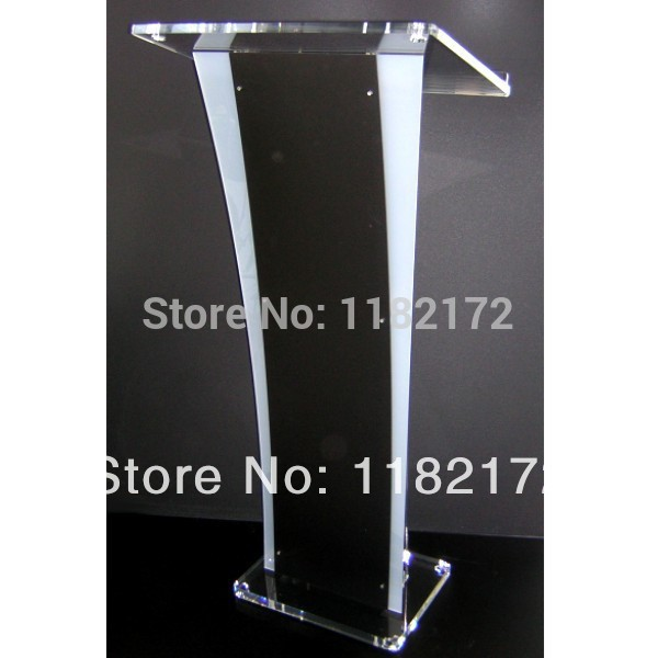 Free Shipping Hot Sell Simple Solid European Design Factory Sell Clear Acrylic Podium Pulpit Lectern