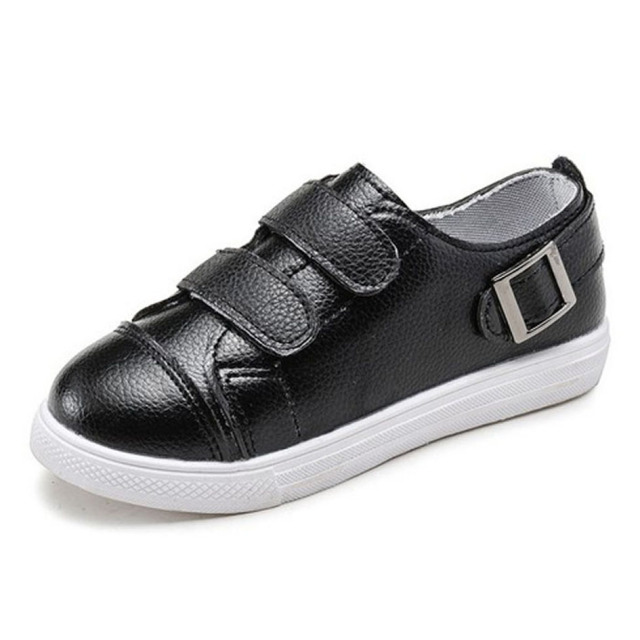 2017 niños sneakers 2 correas de tenis shoes white girls sport shoes negro niños niños calzado informal
