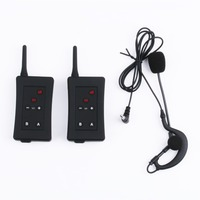 2 PCS Vnetphone FBIM Full Duplex Bluetooth Interphone Synchronous Intercom FM With Earphone Microphone Referee Intercom