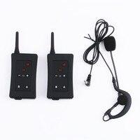 2 PCS Vnetphone FBIM Full Duplex Bluetooth Interphone Synchronous Intercom FM With Earphone Microphone Referee Intercom