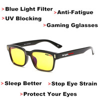 DYVision Protect Your Eyes Anti Fatigue UV Blocking Blue Light Filter Stop Eye Strain Protection Gaming