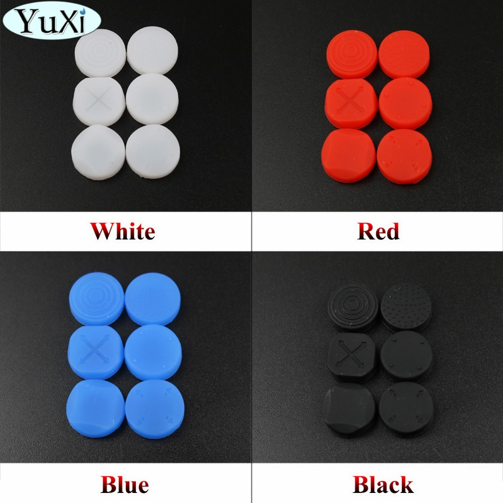 YuXi Silicone Analog Controller Thumb Grips Cap Skin Cover Game Console Joystick Cap For Sony PS Vita For PSV 1000 2000