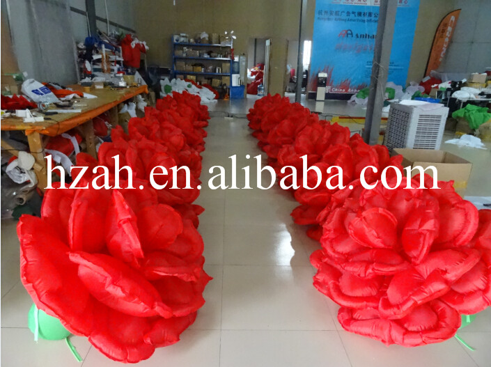 Inflatable Red Rose Flower for Romantic Wedding 2017 new inflatable flower long wedding decoration flower