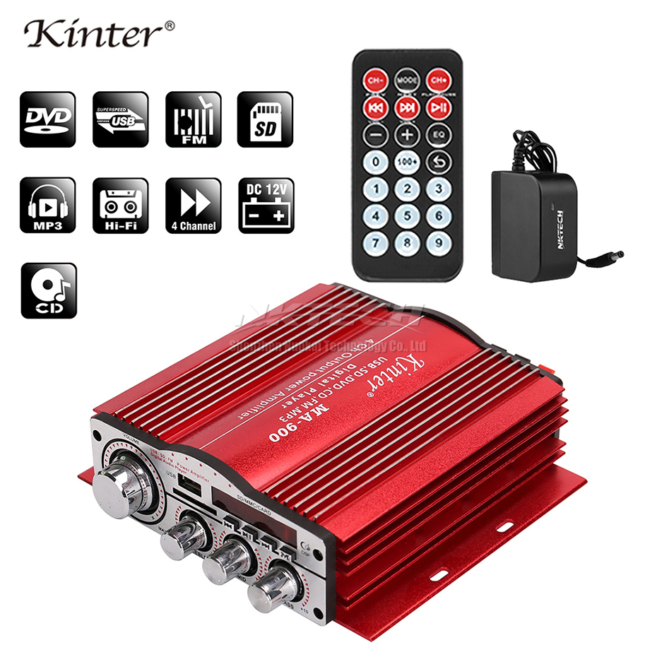 MA-900 Kinter <font><b>Car</b></font> Power Bluetooth Amplifier Digital <font><b>Player</b></font> HiFi Stereo 4x 30W RMS AUX SD <font><b>USB</b></font> FM <font><b>CD</b></font> DVD <font><b>MP3</b></font> Sound Home Audio DSP image