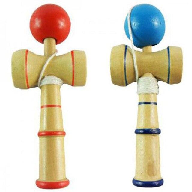 Hohe Qualität Kid Kendama Koordinieren Kugel Japanisches Traditionelles Hölzernes Spiel Geschicklichkeit Pädagogisches Spielzeug