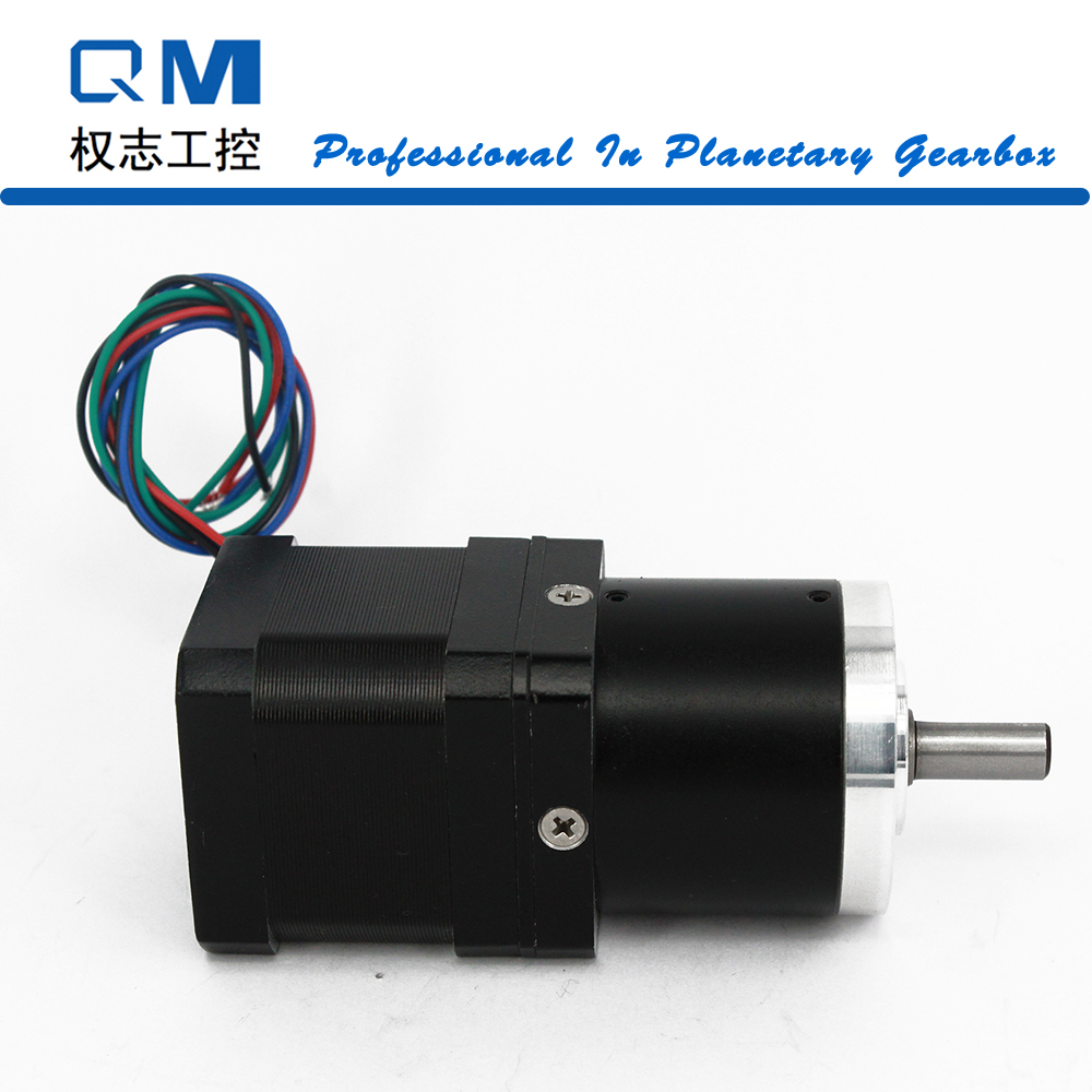 Geared stepper motor nema 17 L=40mm planetary reduction gearbox ratio 30:1 cnc robot pump 57mm planetary gearbox geared stepper motor ratio 10 1 nema23 l 56mm 3a
