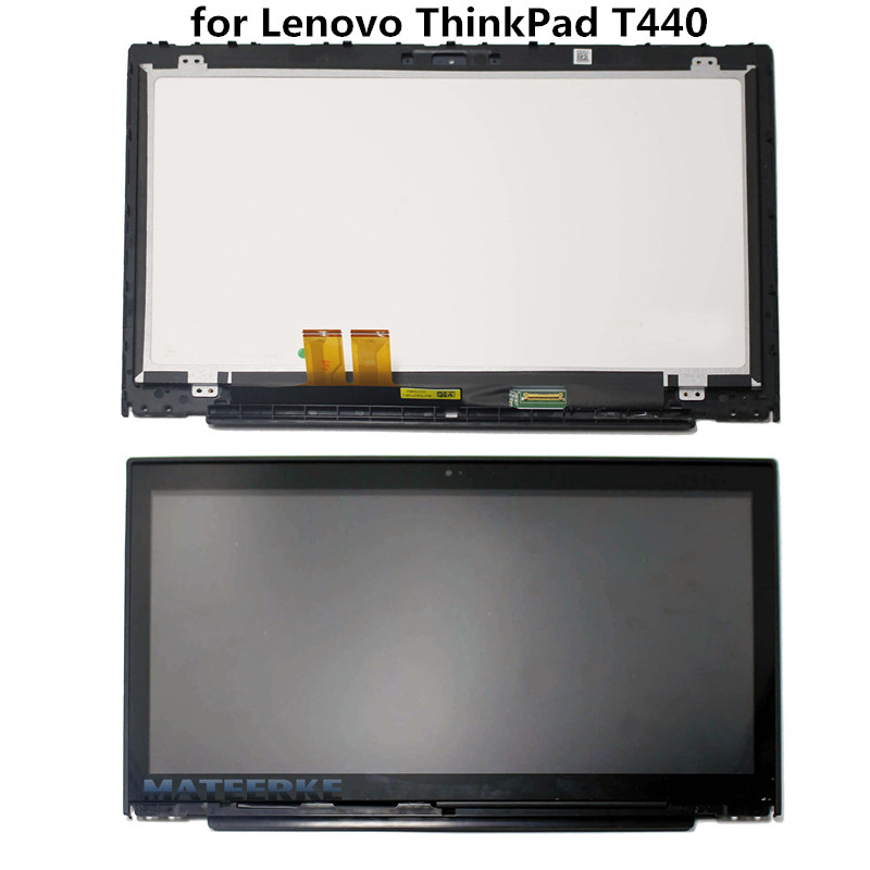 New LCD display(B140RTN03.0 30pin) with Touch Panel Assembly for Lenovo ThinkPad T440 1600*900, with Bezel lcd front bezel assembly for lenovo ideapad y400 ap0rq00020