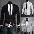 Пиджак мужчины приталенный Fit костюм куртка одна пуговица вязание terno блейзер пальто длинный рукав пиджаки блейзер куртка