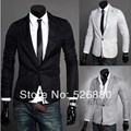 New Hot Sale Blazer Men Slim Fit Suit Jacket Single Button Knitting terno Blazer Coat Long Sleeve Outwear Blazer  jacket