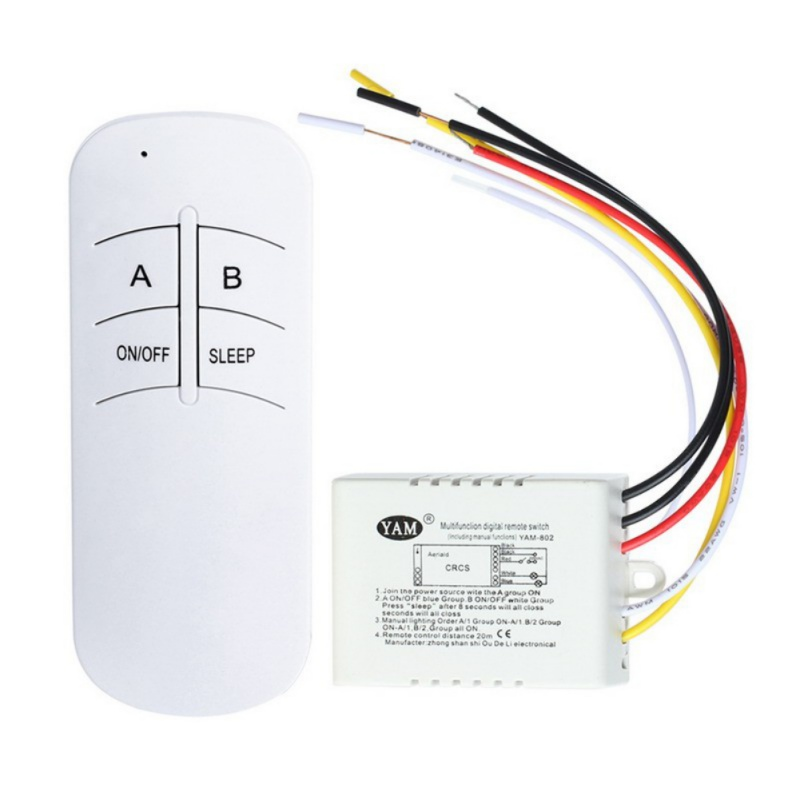 1/2/3 Channel WirelessRemote Control Switch Receiver Transmitter Remote Control Switch Digital