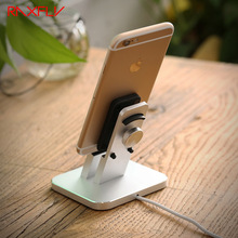 RAXFLY Aluminium Phone Charging Holder Dock For iPhone X 8 7 Plus Desktop Cradle Mount Bracket For iPhone 6 Plus 7 6s Plus 5 5s