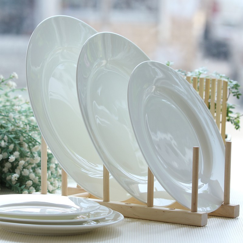 12 Inch White Bone China Serving Dish Ceramic Dinner