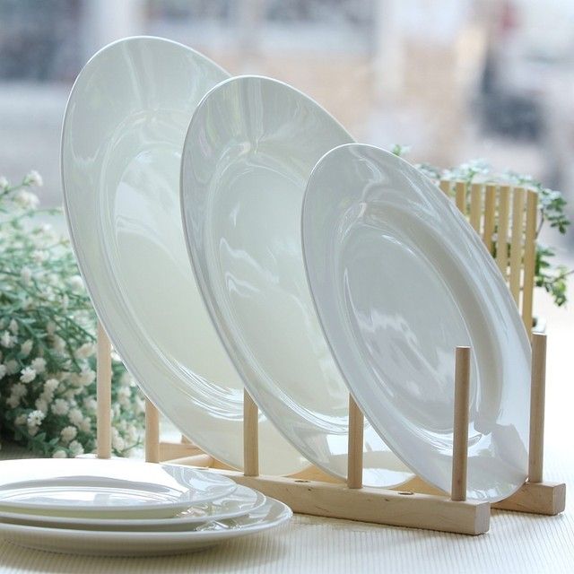 12 inch white bone china serving dish ceramic dinner plate porcelain flat plates & 12 inch white bone china serving dish ceramic dinner plate ...